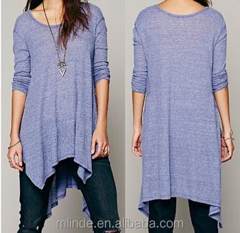 Tunic-length Top Women Lady Tunic Length Cotton Top Latest Fashion ...