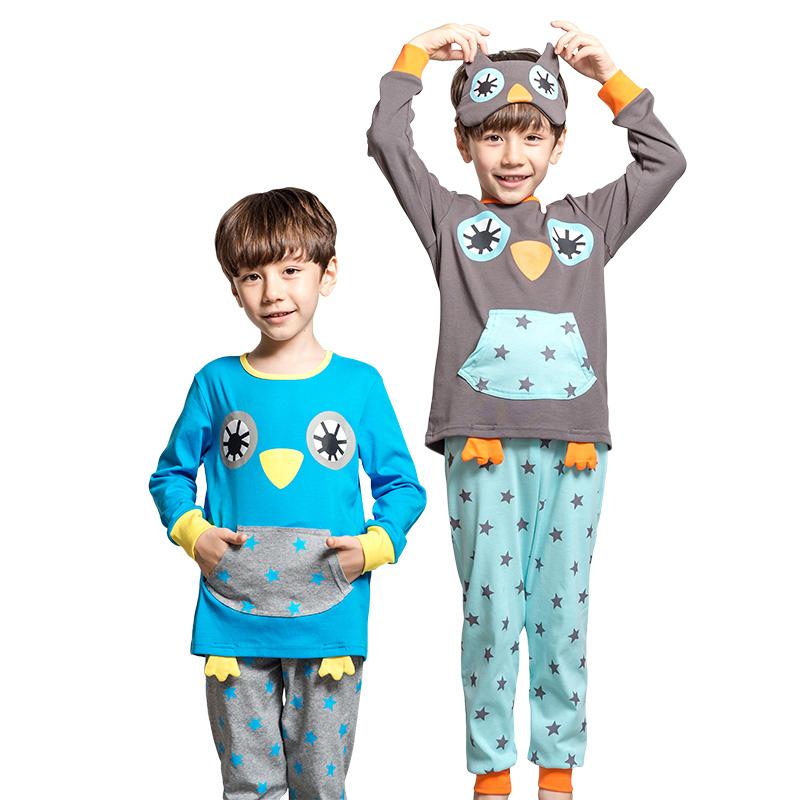 7713a2024 Custom Made Star And Owl Cotton Kids Boys Pajamas Set - Buy Cotton ...
