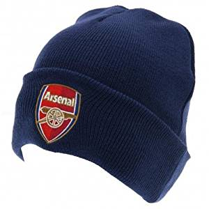 4a88f3a03f5e0 Navy Blue Arsenal Fc Knitted Hat by Arsenal