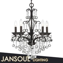 Gentle design wholesale black crystal chandelier