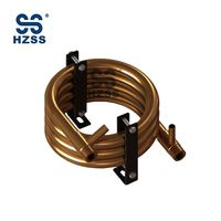CE certification single system copper round tube heat exchanger