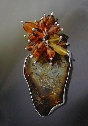 Unique Amber Pendant