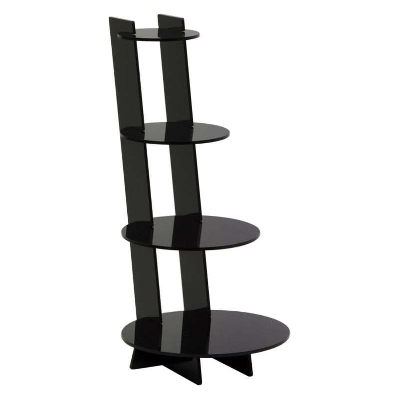 Black acrylic 4 Shelf Knock Down Display