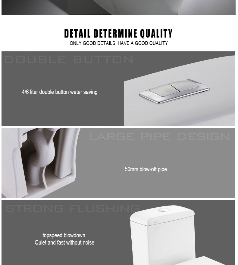 Fashional Style Siphonic Double Button Floor Mounted S-trap Ceramic One Piece Toilet