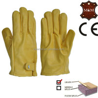 NEWSAIL Full cow leather sleeve and adjustment of unlined glove/light industry safety gloves/heavy working gloves