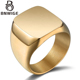 BNWIGE Stainless Steel Ring foMen and women Fashion Gold and Back Simple Personality Bright Body Jewelry Wholesale