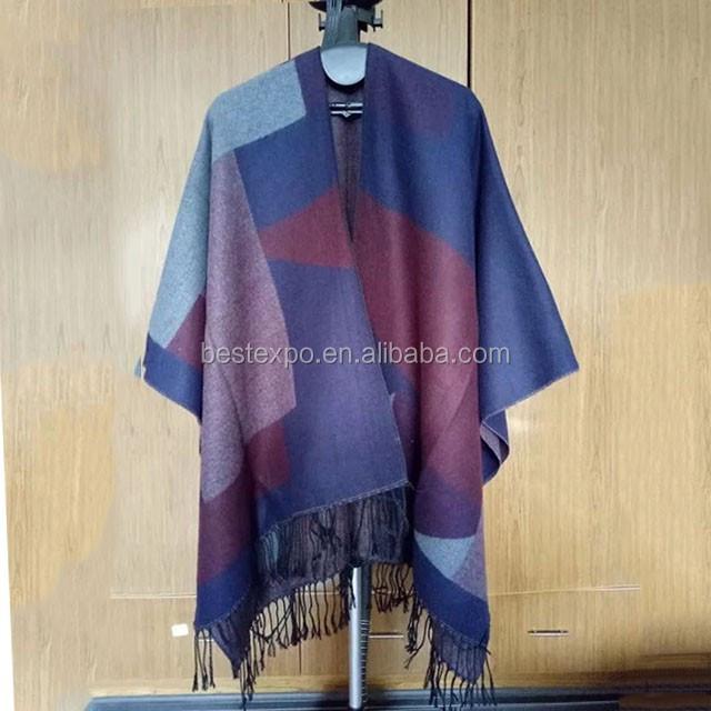 cab76d7a022c En gros nouvelles femmes fringe wraps mode motif géométrique couverture  indien cachemire pashmina châle laine de