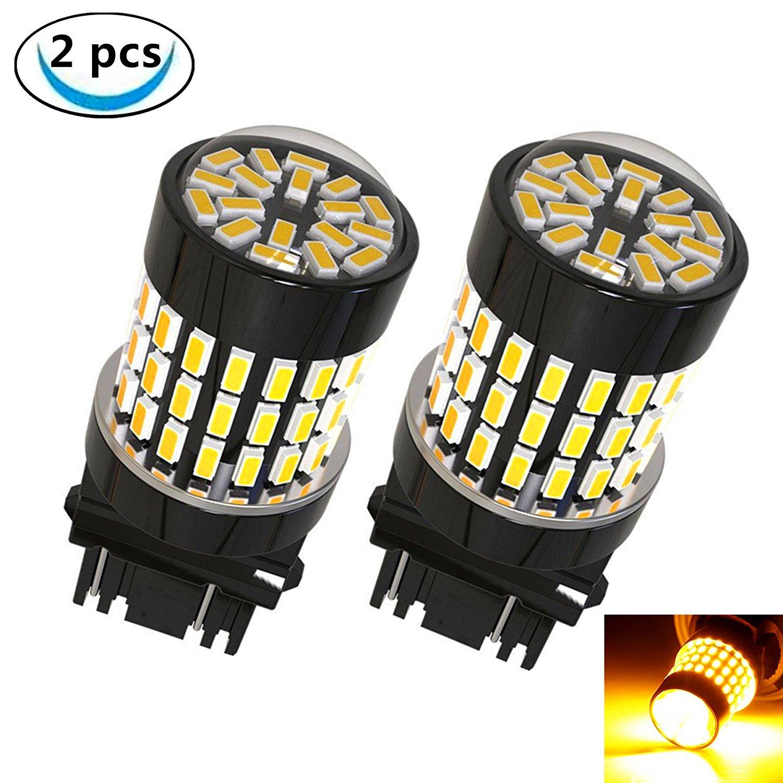 Corner Lights LABBYWAY 2 Pcs Super Bright 900 Lumens 3014 78-EX Chipsets,3157 3156 3056 3057LED Used For Use For Turn Signal Blinker Lights etc,Amber