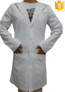 Top Quality!White 100%Cotton 3 Pockets Doctor Suit Style Lab Coat