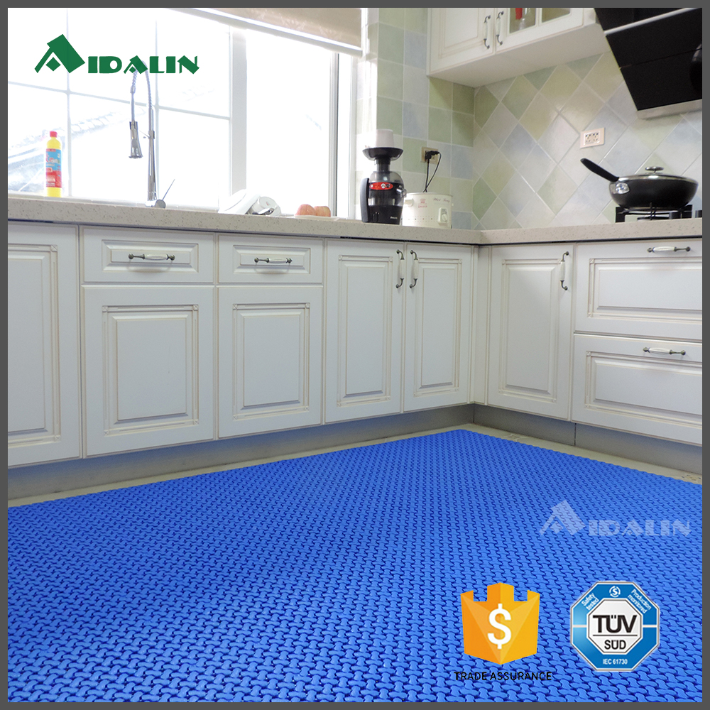 commercial blue pvc plastic non-slip kitchen and bathroom floor mat