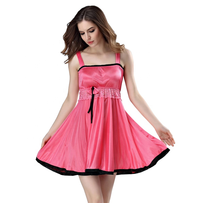 1fe8c3b3cf Wholesale online shopping pakistan women silk satin babydoll lingerie hot  night dress sexy nighty for honeymoon picture