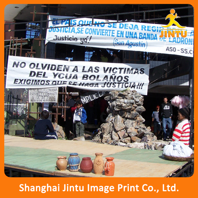 2016 Eco-friendly Promotion Printed PE/Paper/Non-woven/Fabric Customized Outdoor Banner