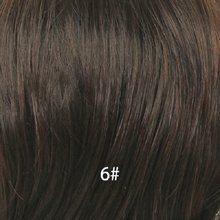 Парики из синтетических волос с бахромой блонд единорог, 8 дюймов, короткие волосы, парики из натуральных вьющихся волос 50%, парик из натурал...(Китай)