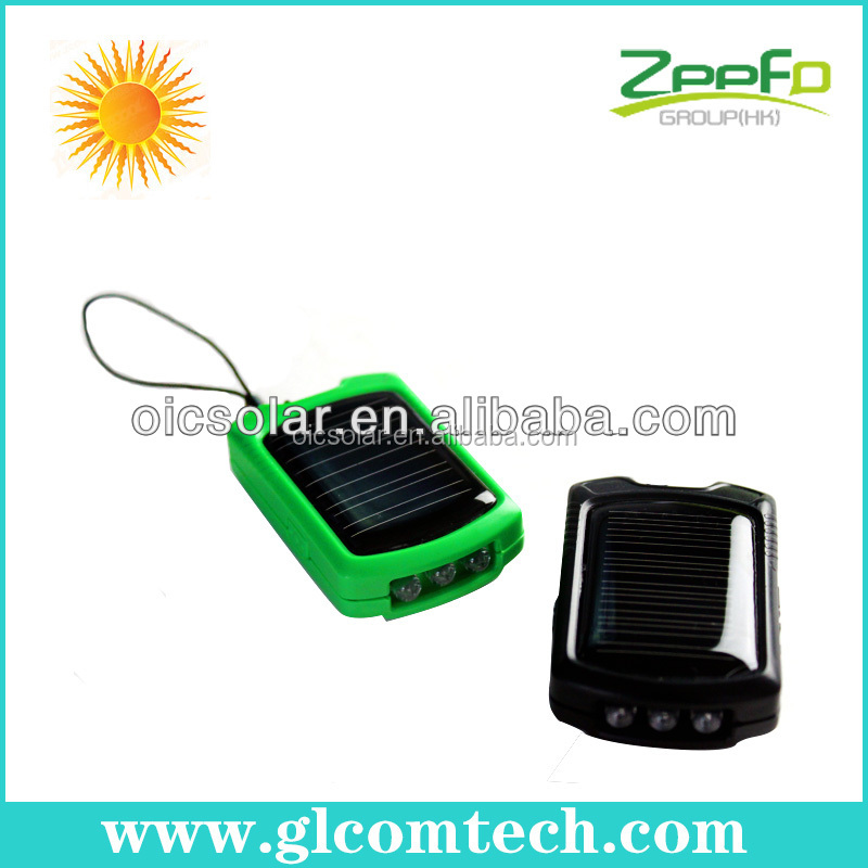 550mah universal cellphone solar charger for iphone ,Samsung and nokia with 3LED flashlight