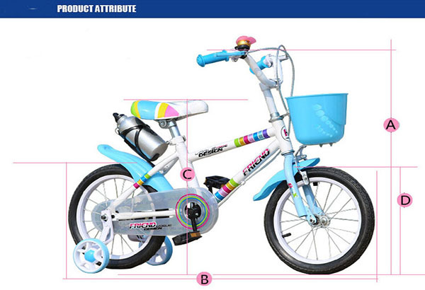Fashion Colours Rainbow Children Bike Baby Bicycle Gas Powered