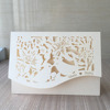 Free ship Laser cut customized carving Couple bird envelope design party decoration supply wedding invitation cards from factory