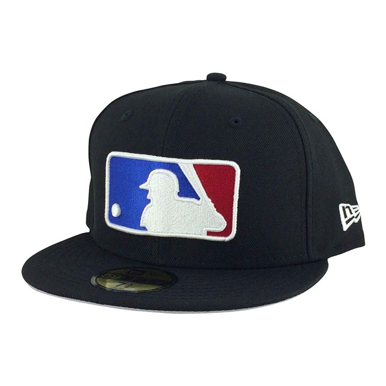 8200c9012efd3 New Era MLB Baseball Umpire Referee Black Xl Logo Man Fitted Hat Cap 7-758