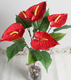 CHY1012 Plastic anthurium recycling plants for table decoration