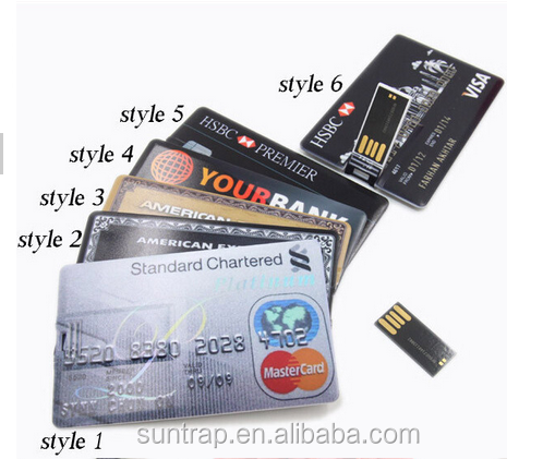 Hot Selling!!!!!!!!Varies of Credit Card USB Flash Drive Custom Printing USB 3.0