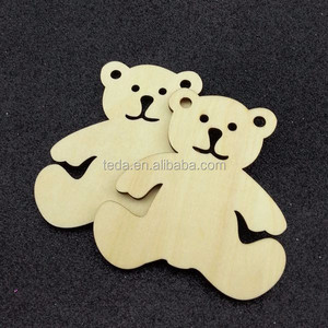 Christmas bear wooden christmas decorations