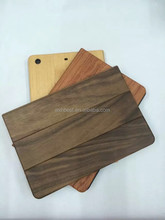 Hot Selling High Quality With Stand Flip Leather Wood Bamboo case for iPad Mini 1 2 3 Wooden Cover Case