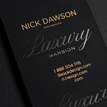 Matte black custom gold foil deboss business card printing buy matte black custom gold foil deboss business card printing reheart Images