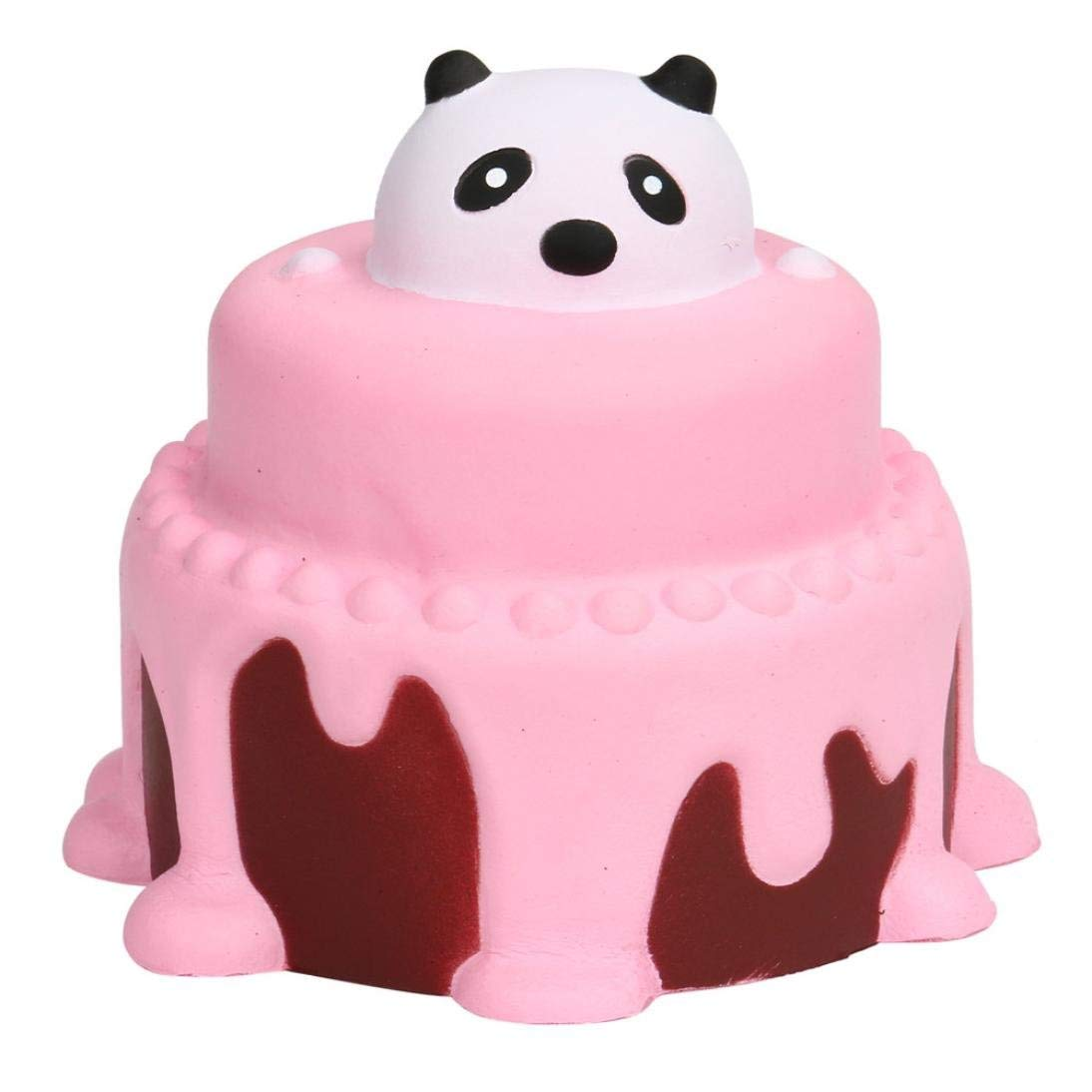 Malbaba 10CM Cute Panda Cake Scented Jumbo Slow Rising Squeeze Stress Relief Kawaii Squishy Decompression Toys