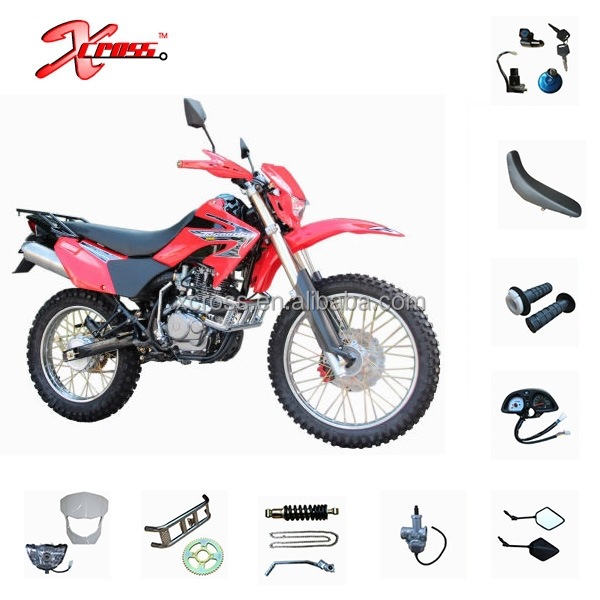 Tornado 250 Motorcycles Parts Body Covers and Other Parts CRF250 Spare Parts Mirror Rear Shock Side stand Steering Stem Battery