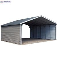 Steel building kits storage shed