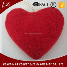 Best selling christmas ornaments wool heart
