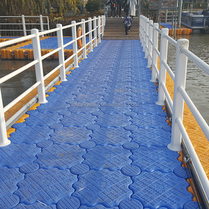 Modular plastic floating bridge platform in China