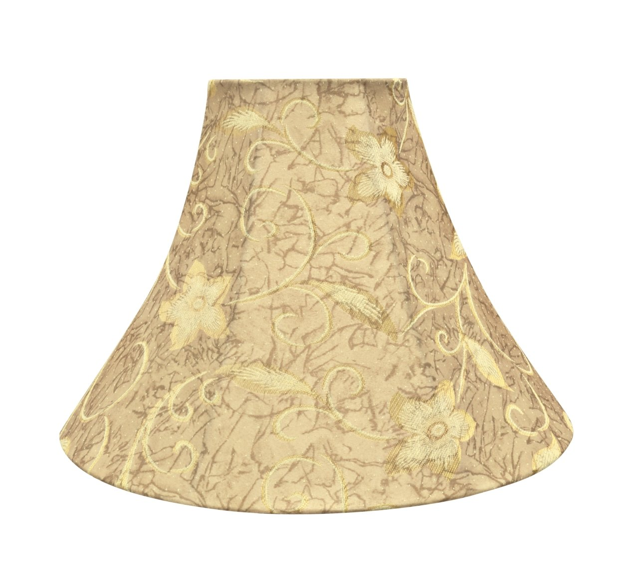 Get Quotations Aspen Creative 30084 Transitional Bell Shape Spider Construction Lamp Shade In Brown 16 Wide