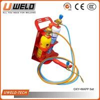 PORTABLE GAS WELDING & BRAZING KIT OXYTURBO SET 110 OXY/TURBO GAS Welding Kit