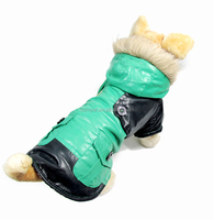 Pet Clothes Fashionable Green Winter Dog Cotton Padded Clothing