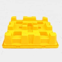 Yellow Virgin HDPE 4-Drums Detachable Plastic Spill Pallet
