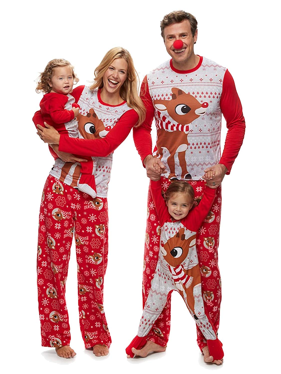 get quotations rudolph the red nosed reindeer christmas holiday family sleepwear pajamas adultkidtoddler