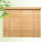 Fashion custom cordless basswood antique wooden venetian blinds slats