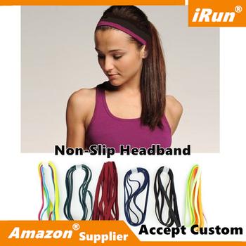 Skinny Sport Elastic Headband Softband Yoga Anti-slip Rubber Hair Bands  Bandage - eBay  f37c853504f