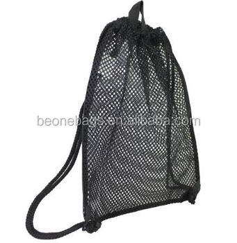 Whole Nylon Sport Basketball Mesh Drawstring Backpack