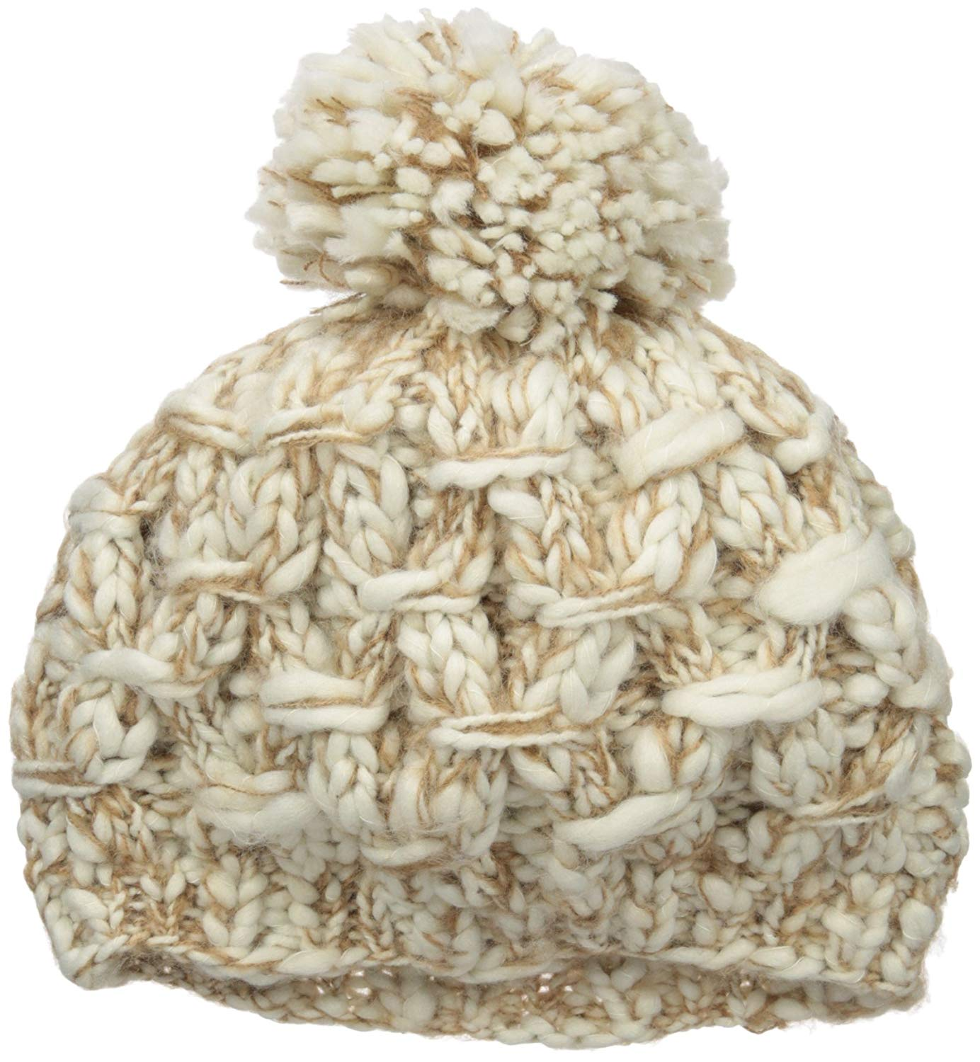6b9a8ac3987 Get Quotations · San Diego Hat Company Women s One Size Chunky Marled Knit  Beret Pom