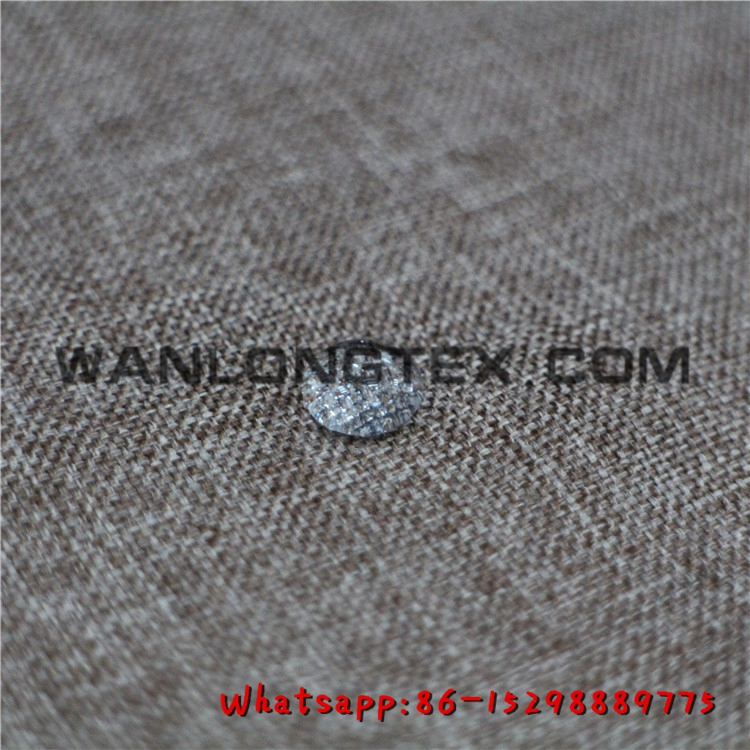 100% Poly waterproof upholstery fabric poly linen fabric for sofa