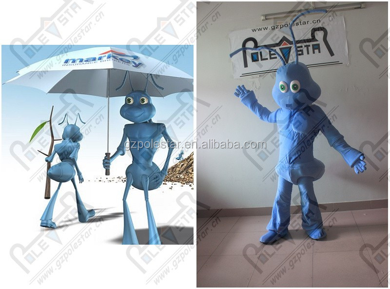 forest blue fox mascot costume