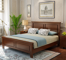 0722-2 Simple Classic Bed with Customized Bedhead and Storage or Bedbase
