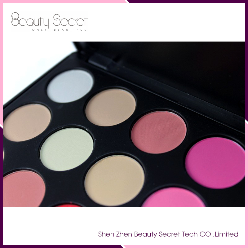 26 colors blusher OEM no brand blusher kiss beauty
