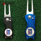 High Quality Mixed color custom Metal Golf Divot Tool with Golf Ball Marker,Golf Pitchfork