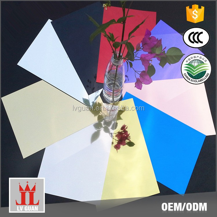 Custom Lg10X 0.3Mm 0.6Mm Thick Arts Decor Build Materials Acm Coated Polished Mirror Color Aluminum Sheet