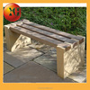 Natural stone and rustic garden bench for outdoor furniture