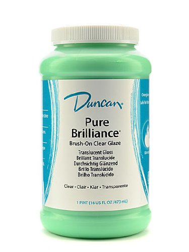Duncan Pure Brilliance Clear Glaze brush-on glaze 16 oz. jar