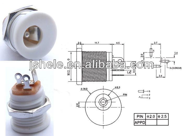 9v Dc Power Jack For Guitar Pedals,2.1mm Center Pin - Buy 2.1mm Dc Wiring V Dc Jack on