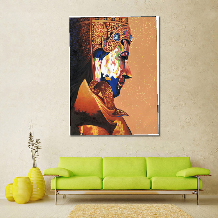 Canvas printed poster wall picture without frame 3D God Indian God Wall Art Decor Wall Hanging  Picture